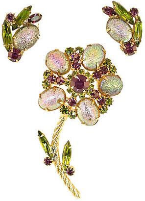 One Kings Lane Vintage 1960s Juliana Floral Brooch Set - Neil Zevnik