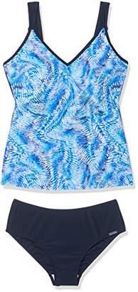 Sun Marin Sunmarin Women's Glacier Tankini, Blue 26, (Size: 44)