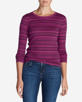Eddie Bauer Women's Favorite Long-Sleeve Crew T-Shirt - Stripe