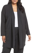 Eileen Fisher Plus Size Women's Long Kimono Cardigan