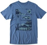 O'Neill Mens Printed Short Sleeves Graphic Tee Blue M