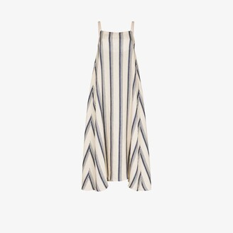 Missing You Already Striped Linen Maxi Dress