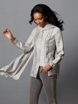 J.Mclaughlin Lois Silk Shirt in Royal Link Stripe