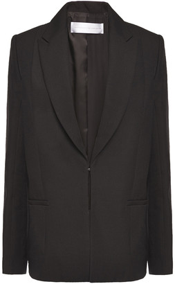Victoria Victoria Beckham Paneled Satin And Woven Blazer