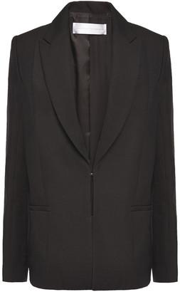 Victoria Victoria Beckham Paneled Satin And Woven Blazer
