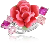 Dolci Gioie Sterling Silver Red Rose Ring