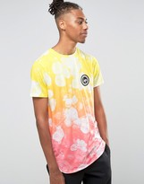 Hype Gradient T-shirt In Floral Print