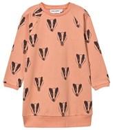 Mini Rodini Pink Badger Print Sweater Dress