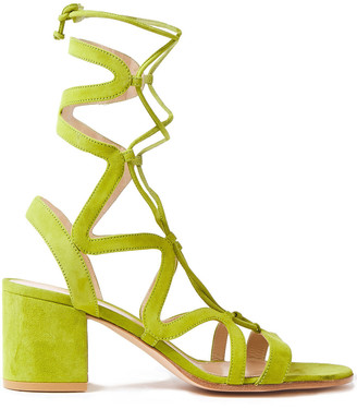 Gianvito Rossi Artemis 60 Lace-up Suede Sandals
