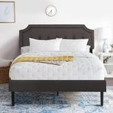 Red Barrel Studio Premium Upholstered Platform Bed Diamond Stitched Panel Headboard, Metal Frame & 12 Strong Slat Support, Mattress Foundation/Easy As