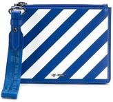 Off-White Off White diagonal stripe clutch