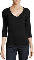 Majestic Soft Touch 3/4-Sleeve V-Neck Tee