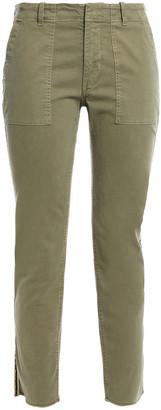 Nili Lotan Jenna Grosgrain-trimmed Stretch-cotton Twill Slim-leg Pants