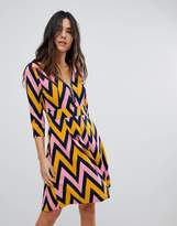 Traffic People Chevron Zip Dress