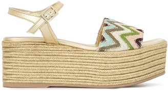 Madison.Maison Woven Leather 50mm Wedges