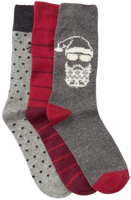 Original Penguin Assorted Crew Socks - Pack of 3