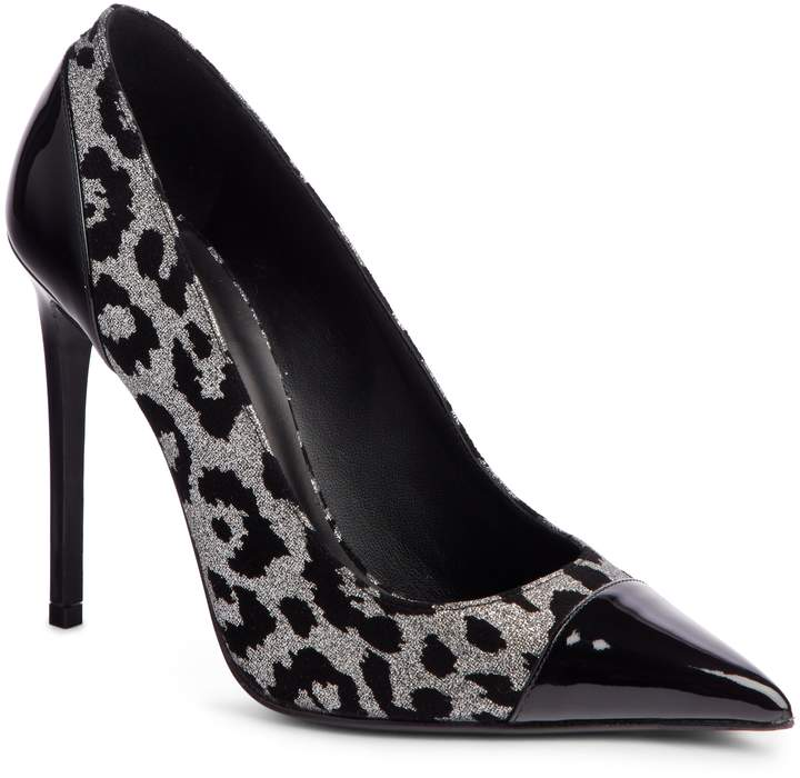 Balmain Daphne Leopard Print Pointy Toe Pump