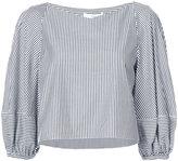 Tibi striped cropped blouse - women - Cotton - 6