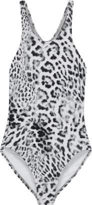 Norma Kamali Mio Leopard-print Swimsuit