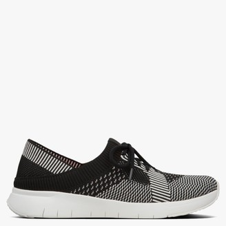 FitFlop Marble Black & Charcoal Knitted Trainers