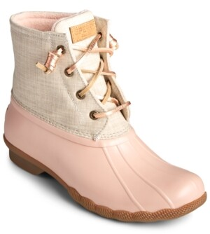 Sperry Women's Saltwater Duck Booties, Created for Macy's Women's Shoes