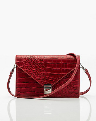 Le Château Croco Embossed Crossbody Bag