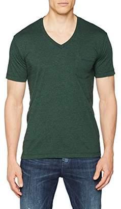 Urban Classics Men's Melange V-Neck Pocket T - Shirt,S