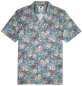 Nn07 NN07 Blue Printed Cotton Shirt