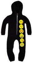 Jollyrascals Girls Full Length Zip Front Emoji Onesie