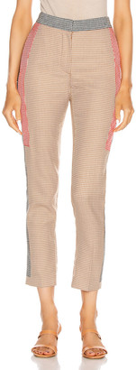 Burberry High Waisted Pant in Bronze | FWRD