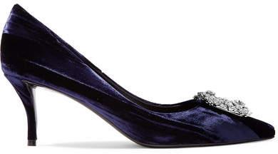 2cc429223c Navy Velvet Heels - ShopStyle