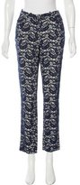 Erdem Lace Straight-Leg Pants
