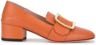 Bally Square Tip 40mm Buckled Pumps