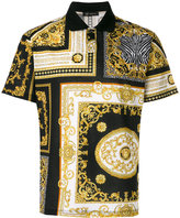 Versace signature print polo shirt - men - Cotton - XL