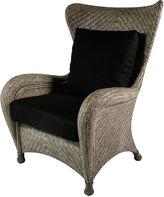 One Kings Lane Nova Wing Chair, Black
