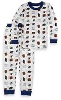 Eric Carle IntimoTM 2-Piece Bear Long-Sleeve Pajama Set in White