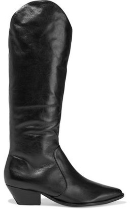 Schutz Fantinne Leather Knee Boots