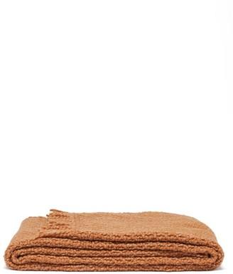 Aessai - Santa Fringed Merino-wool Blend Blanket - Camel