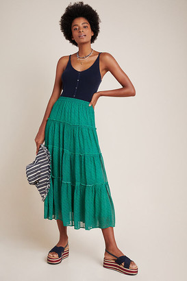 Maeve Phoebe Tiered Maxi Skirt By in Assorted Size XL