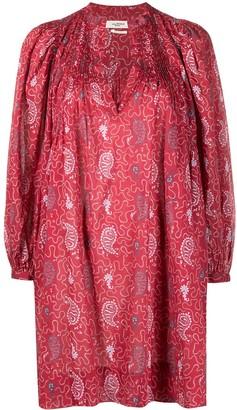 Etoile Isabel Marant Paisley-Print Mini Dress
