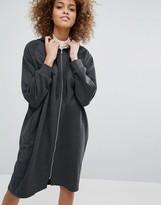 Monki Oversized Hooded Sweat Dress