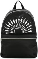 Neil Barrett Lightning bolt backpack - men - Leather/Nylon/Polyester - One Size