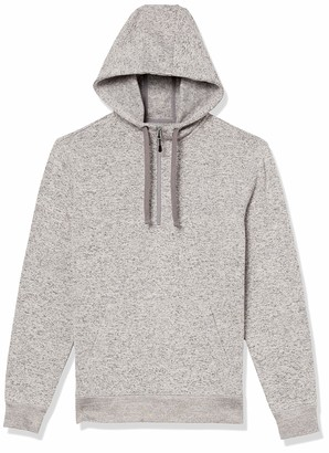 Goodthreads Amazon Brand Men's Sweater-Knit Fleece Long-Sleeve Half-Zip Hoodie