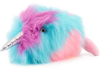 Douglas Bubbles, the Rainbow Narwhal Plush Toy Stuffed Animal