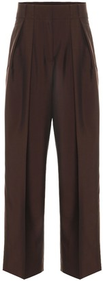 Acne Studios Wool and mohair high-rise pants