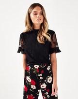 Fashion Union Lace Sleeve Blouse