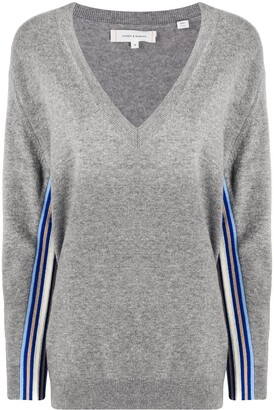 Chinti and Parker Oversized Side-Stripe Jumper
