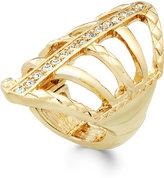 Thalia Sodi Pavé Crystal Web Ring, Only at Macy's