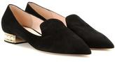 Nicholas Kirkwood Casati Embellished Suede Slippers