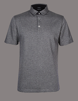 Autograph Slim Fit Pure Cotton Textured Polo Shirt